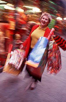 woman Xmas shopping