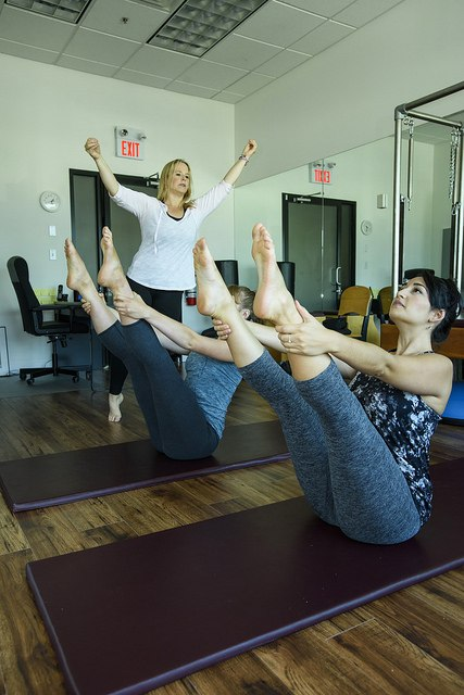 Pilates open leg rocker, Moving Spirit Pilates, north vancouver