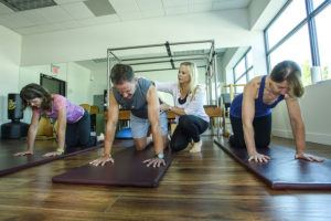 Mat class at Moving Spirit Pilates, North Vancouver, BC